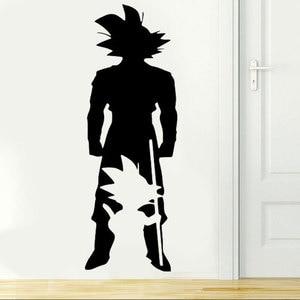 Image 1 - ドラゴンボール Z アニメキャラクター悟空小から大に壁アップリケ寝室アニメファン装飾ビニールの壁のステッカー LZ17