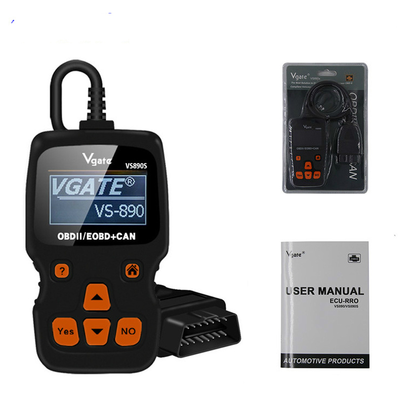 VGATE VS 890S lecteur de Code/défaut automatique OBD2 EOBD + peut Scanner de Diagnostic prise en charge outil de Diagnostic de voiture multilingue pour moteur