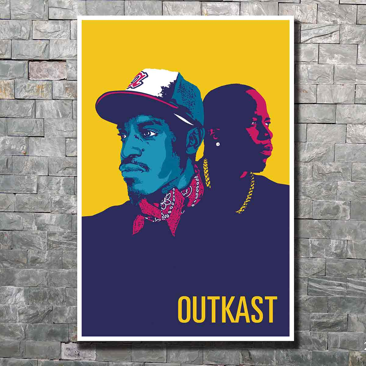 Outkast Stankonia Hip Hop Duo Album Music Rap Singer Art Poster custom Home Wall decor12x18 24x36canvas living roomdecoration image