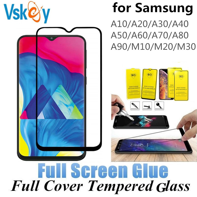 100PCS 2 5D Full Cover Tempered Glass For Samsung Galaxy M30 M10 M20 A10 A20 A30