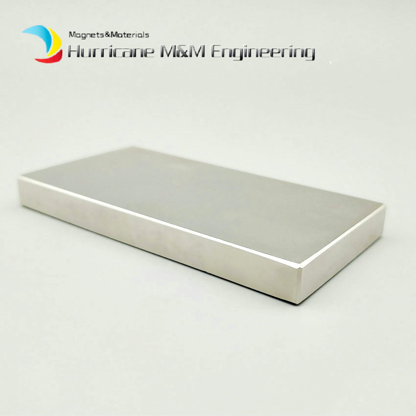 N52 NdFeB Block 100x50x10 mm 100x50x5 mm Large Plate Super Strong Neodymium Permanent Magnets Rare Earth Industry Magnet 1-4pcs big capacity high quality canvas shark double layers pen pencil holder makeup case bag for school student with combination coded lock