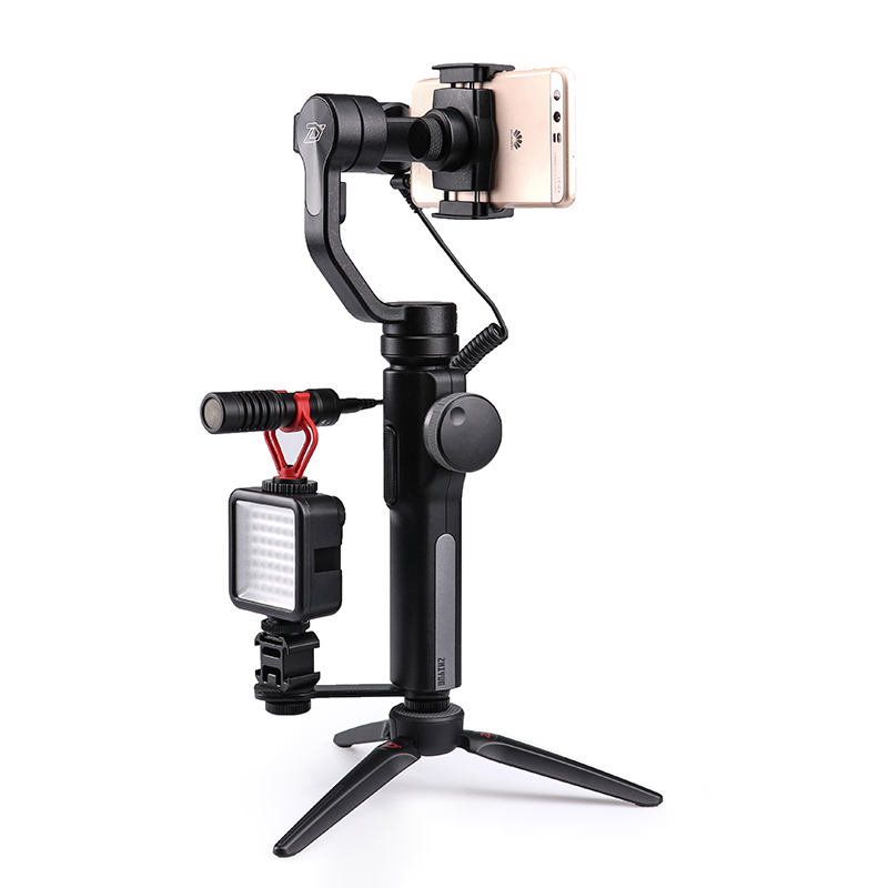 Zhiyun Smooth 4 Stabilizer 3-Axis Handheld Gimbal for Smartphone Gopro Camera iPhone Xs X 8 Plus (Pull & Zoom Control) VS Osmo 2