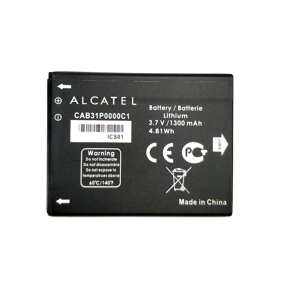 2019 1PCS 1300mAh CAB31P0000C1 Battery For Alcatel One Touch C3 OT 990 / TCL W969 A919 A966 I908 Phone + Tracking Code