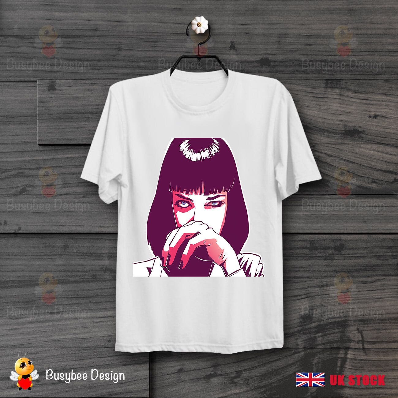 Pulp Fiction Mia Wallace Quentin Tarantino Drug Vintage Unisex T Shirt B113