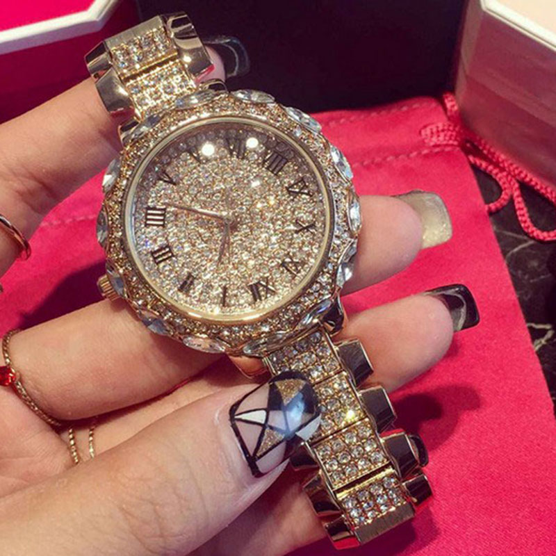 Famous Brand Full Diamond Luxury Women Watch Lady Dress Watch Rhinestone Bling Crystal Bangle Watches Female reloj mujer 2017 new arrivals famous brand full diamond luxury women watch lady dress watch rhinestone bling crystal bangle watches female