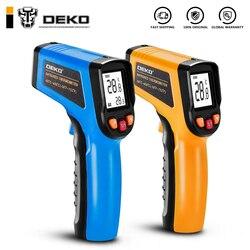 DEKO WD01 غير الاتصال ليزر شاشة الكريستال السائل IR الأشعة تحت الحمراء الرقمية C/F اختيار سطح ميزان الحرارة البيرومتر تصوير