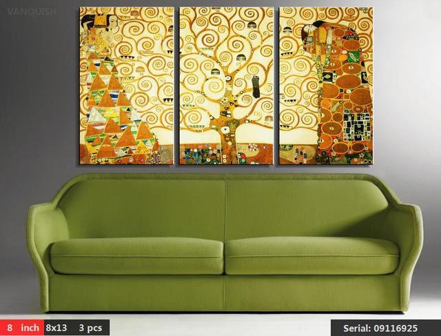 VANQUISH 3 Gustav Klimt kiss Home Decor Canvas Wall Art Picture ...