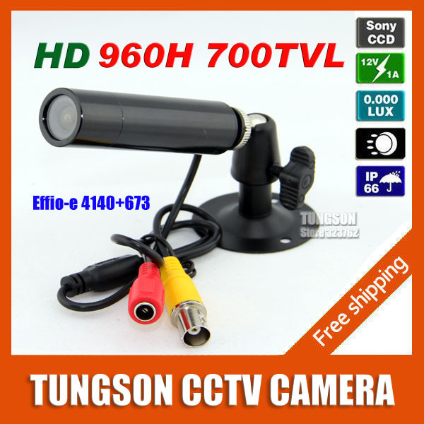Hot Sell Sony 960H Effio 700TVL Micro Video Security Surveillance Waterproof Small Bullet Mini CCTV Camera 3.6MM Lens
