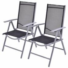 Goplus набор из 2 патио складной стул пляжа Регулируемый лежащего Крытый Открытый Сад Алюминий Портативный Стулья для рыбалки hw52027