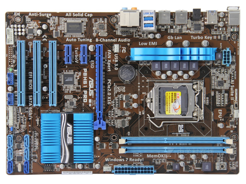 все цены на original motherboard for ASUS P8H61 PRO DDR3 LGA 1155 USB2.0 USB3.0 for I3 I5 I7 CPU 16GB H61 Desktop motherboard Free shipping