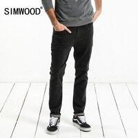 SIMWOOD Brand Jeans Men 2018 Spring New Design Jeans Slim Fit High Quality Plus Size Black