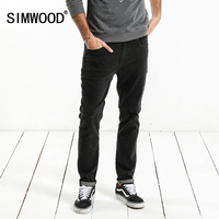 SIMWOOD Brand Jeans Men 2018 Spring New Design Jeans Slim Fit High Quality Plus Size Black