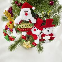Christmas Cloth Plush Hollow Doll Pendant Christmas Tree Cute Doll Hanging Ornaments Home Fabric Accessories Snowman Santa Claus