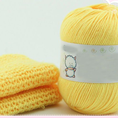 Hot  Whole sale 10 balls/lot 500g Milk soft scarf acrylic cotton yarn thick yarn cotton crochet thread