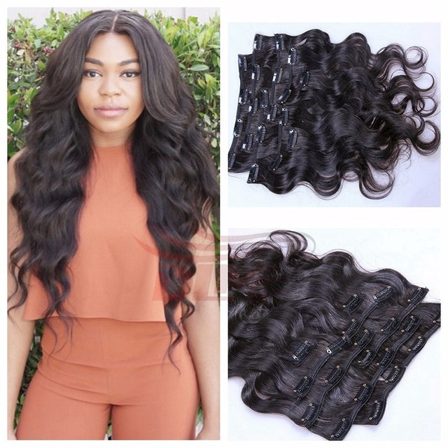 African American Clip Human In Hair Extensions Aliexpress Hair