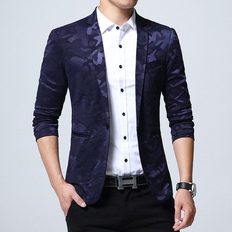 2019 New Men Blazers 4XL 5XL Spring Korea Style Male Slim Fat Business Casual Blazer Coat Men Brand Outwear Jacket BF772