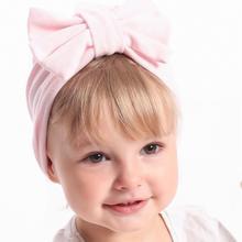 170545b7f High Quality New Autumn Winter European Baby Hat Baby Wool Beanie Bow Knot  Tie Elastic Turban