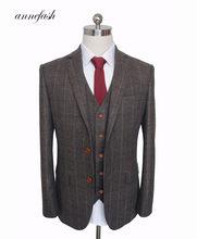 6f8e44b7fa8f Uomini Su Misura Made Nero Set Abbigliamento Vestito di abito Da Sposa  Classico Smoking Usura Sposo