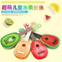 QICSYXJ Geburtstagsgeschenk Versorgung Kinder Cartoon Obst Spielzeug Musikinstrument Wassermelone Erdbeere Orange Kiwi Fruit Mini Gitarre