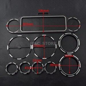 Image 5 - Motorcycle Black Stereo Accent + Snelheidsmeter + Speaker Trim Ring 9pcs Kits Voor Harley Touring Electra Glide Straat Glide 1996 2013