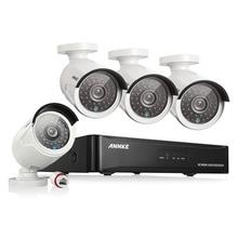 ANNKE 4CH 1080 P CCTV Système POE NVR 1080 P Sortie Vidéo 4 PCS 3000TVL 2.0 mp CCTV IP Caméra de Surveillance de Sécurité À Domicile Kits