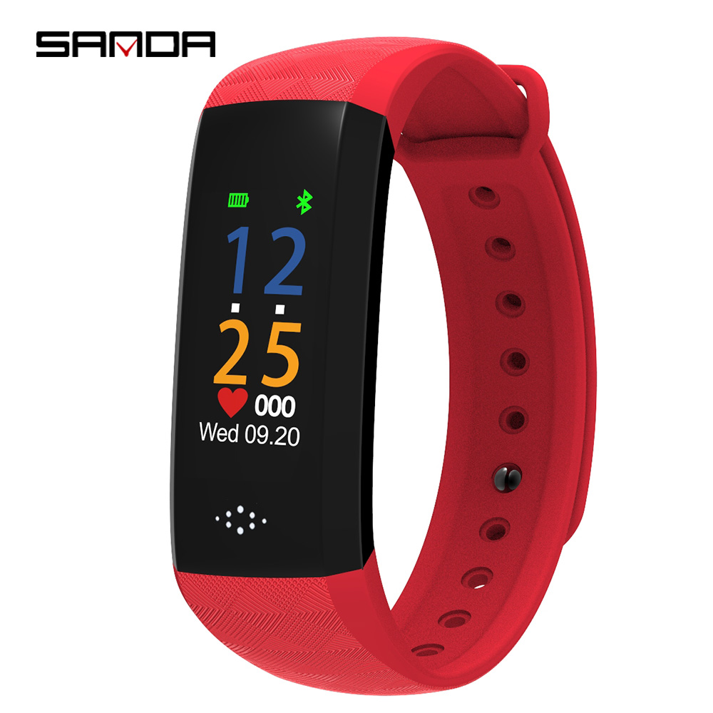 SANDA Smart Fitness Bracelet Blood Pressure Heart Rate Monitor Smart Wrist Watch for Android Call Reminder Pedometer Smart Band chiclits q8 smart watch waterproof sport fitness bracelet heart rate blood pressure message reminder pedometer for android ios