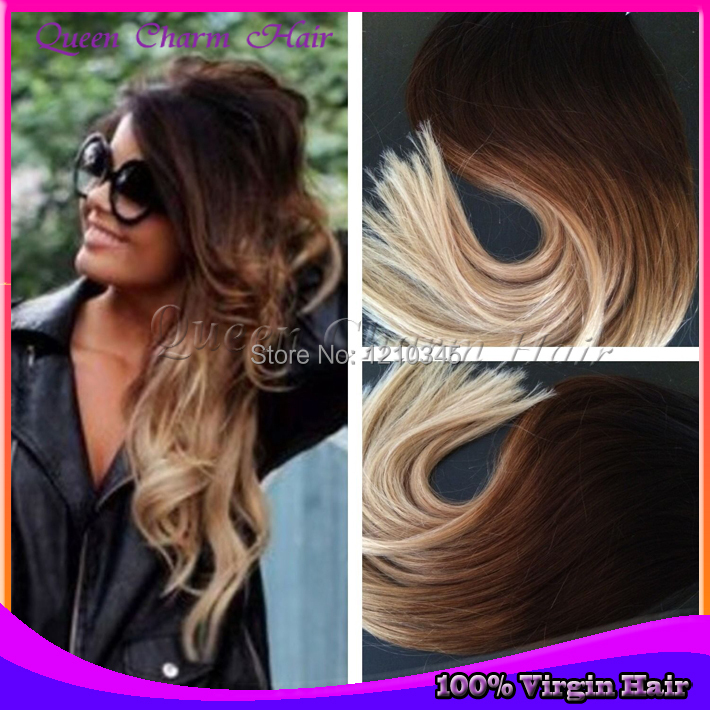 Cheap Hot Sale Tape Hair Extensions 40pcs 1b424 Ombre Straight