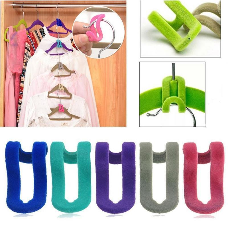 Image 2 - Creative 1Pc Mini Flocking Coat Hooks For Clothes Hanger Closet Organizer Potable Color Travel Clothes Hanging Hooks #20-in Hooks & Rails from Home & Garden
