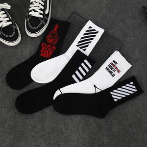 b2335d6ad50 Nyacinth Long Crew Cotton hip hop Funny Skate Men socks