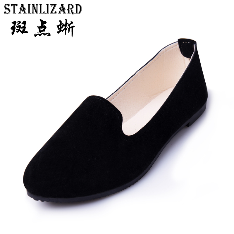 STAINLIZARD Women Casual Flats Summer Pointed Toe Fashion Female Flats Slip-On Solid Comfortable Women Shoes Basic HDT55 pu pointed toe flats with eyelet strap