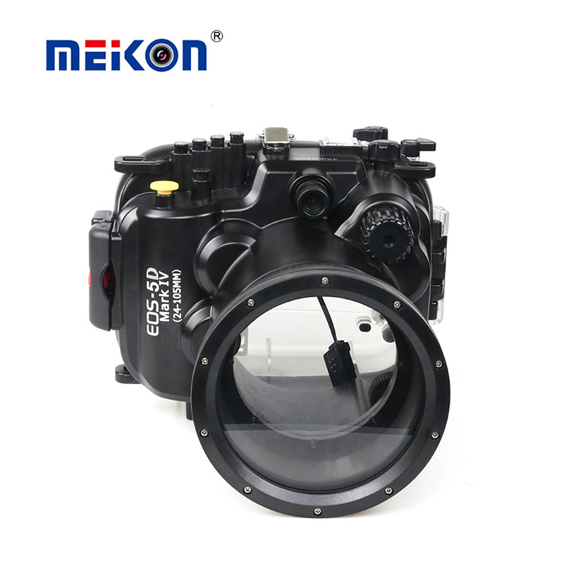 Meikon 40m Underwater Camera Housing Camera waterproof for Canon 5D Mk IV (24-105mm) meikon underwater diving camera waterproof cover case for canon 650d 18 55mm lens black