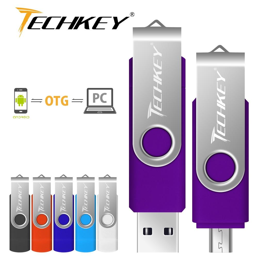 OTG Pen Drive Usb Flash Drive 32gb 64gb 8gb 16gb 4gb Rotatable Otg Memory Usb Stick Pendrive For Smartphone Cel Usb Stick U Disk