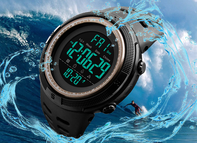 Skmei Luxury Brand Mens Sports Watches Dive 50m Digital LED Military Watch Men Fashion Casual Electronics Wristwatches Relojes 8
