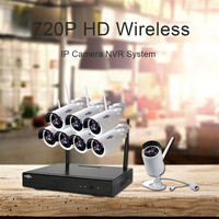 Hiseeu Endoscope Security System Video Surveillance Night Vision IP Camera HD 720P 8CH Wireless CCTV System