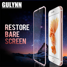 GULYNN For iphone X 10 Glass 3D Full Cover Tempered On 7 8 Plus 6s 5 5s Se Screen Protector Protective Film
