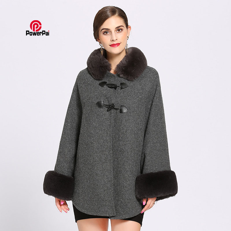 Apparel Accessories 2018 Winter New Occident Style Women Fashion Fur Coat Cloak Loose Luxury Cashmere Poncho Cape Shawl Fur Cardigan Sweater