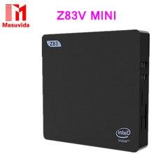 2017 Mesuvida New Arrive Original Set-top box Z83V Mini PC Intel Atom X5-Z8350 CPU Windows 10 OS 64bit