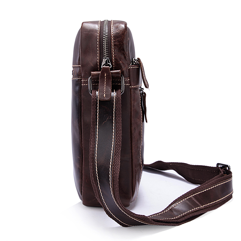 MVA Lelaki Bahu Beg Kulit Asli Lelaki Beg Vintage Crossbody Bags - Beg tangan - Foto 4