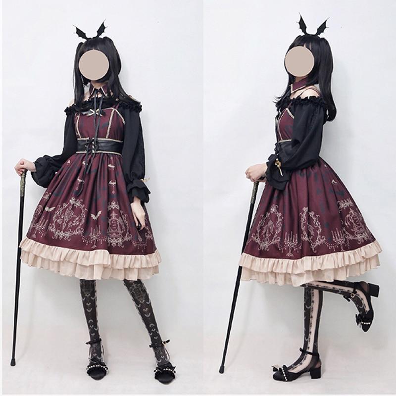 Femme gothique Lolita robe conception originale sommeil nuit ceinture JSK robe fille Lolita 2018 nouveau - 5