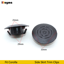 Kunststoffen Clips Voor Toyota Corolla Side Rok Trim Clips Camry Deur Clip Vios Spatbord Drainage Gat Cover 10 20 50 100 Pcs