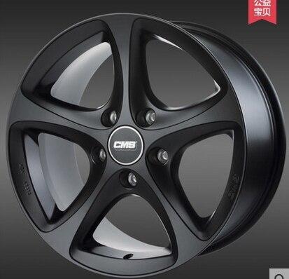 Alloy 15 16 17 18 inches matte black wheel modified hub ...