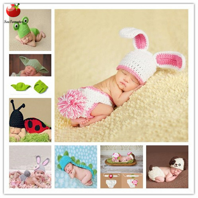 0 6month Baby Crochet Photography Props Shoot Newborn Photo Cool Boy Costumes Infant Beanies And
