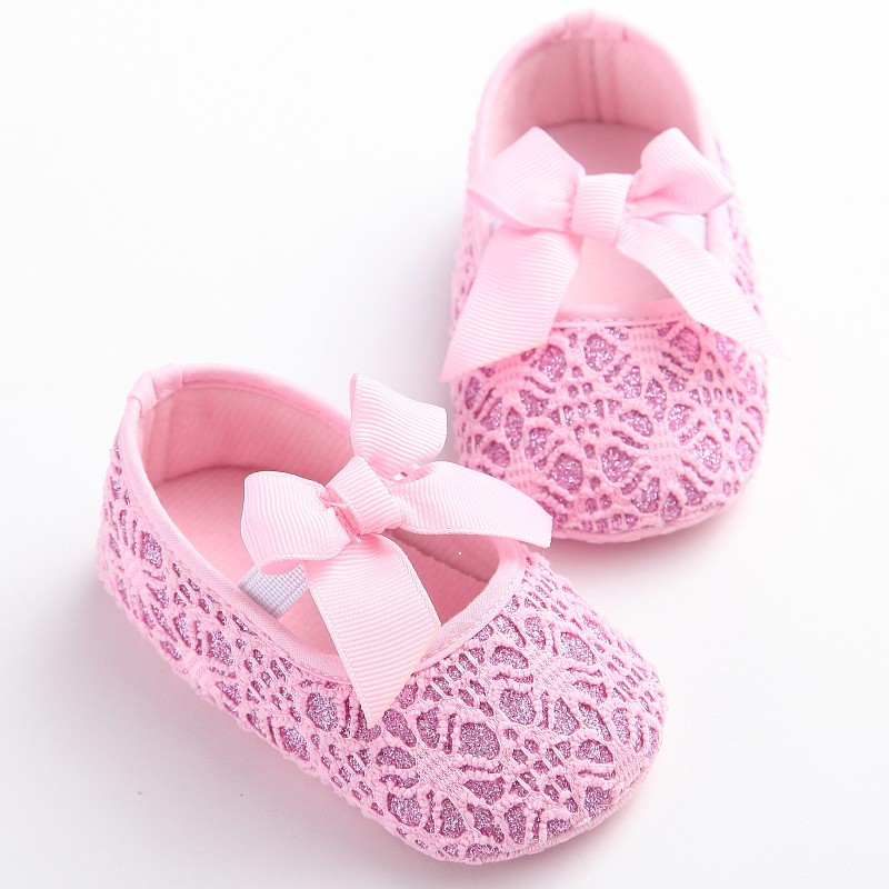 Baby Shoes Bling Newborn Bow Baby Girl Shoes Sequin First Walkers Baby Princess Girl Shoes