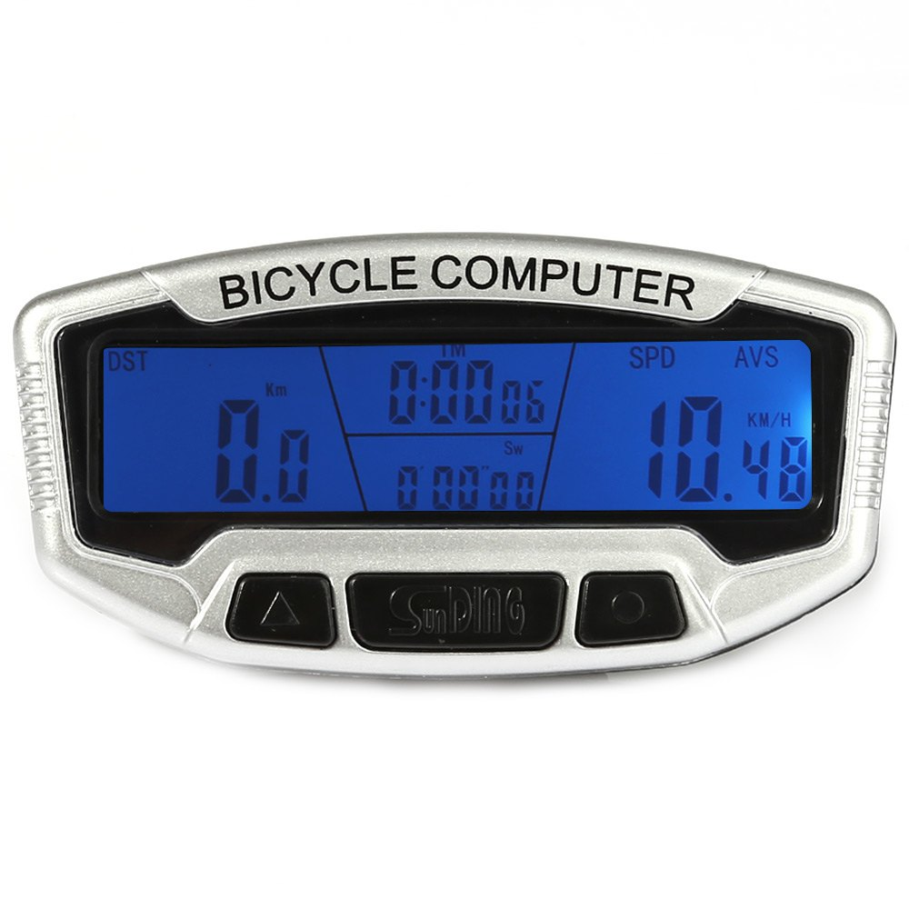 SunDing SD - 558A Wired Bicycle Computer Waterproof Cycling Odometer Speedometer with Touch Button LCD Backlight