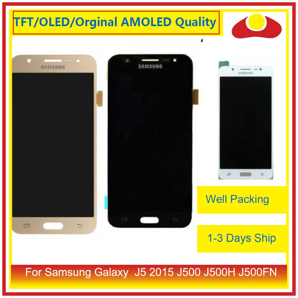 10 pçs/lote Para Samsung Galaxy J5 2015 J500 J500H J500FN J500F Display LCD Com Painel Touch Screen Digitador Pantalla Completo