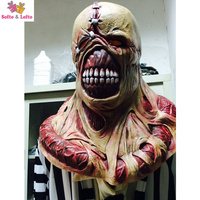 Free Shipping Muscle Zombie Mask Rubber Evil Ghost Virus Scary Halloween Party Costume Dress Make Up