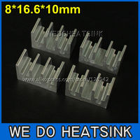 20pcs 8*16.6*10mm Rectangle Heat Sink Radiation For DIPs Chipsets Aluminum Heat Sink Fans & Cooling