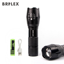 BRILEX Flashlights LED Torches Rechargeable Portable Tactical Flashlight 6 Lighting Modes Ajustable Focal Waterproof Torches.