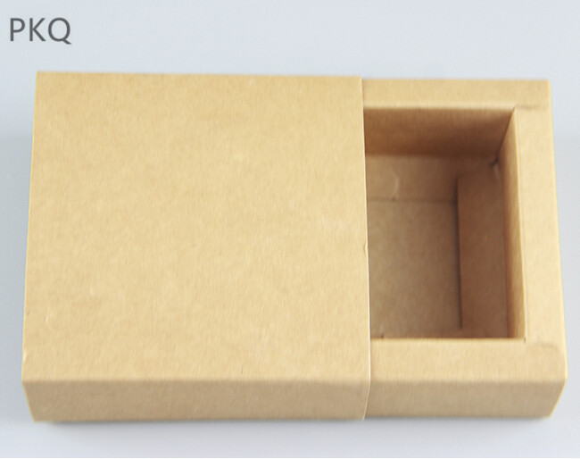 20pcs/lot Sliding Cover Mini Kraft Paper Drawer Boxes Wedding Party Candy Gift Box for Handmade Soap Craft Jewel Packaging