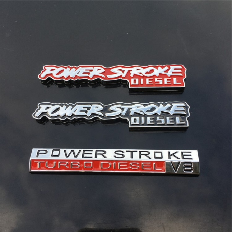 CARORSBEE V8 POWER STROKE TURBO DIESEL letter metal Badge Emblem Decal Auto Sticker Car styling automobiles exterior accessories